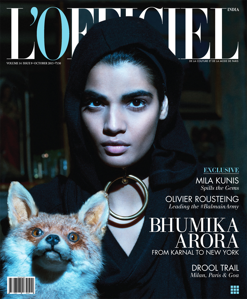 Bhumika Arora in L'Officiel India October 2015 by Onin Lorente
