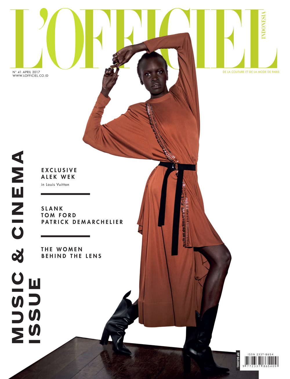 Alek Wek for L'Officiel by Onin Lorente