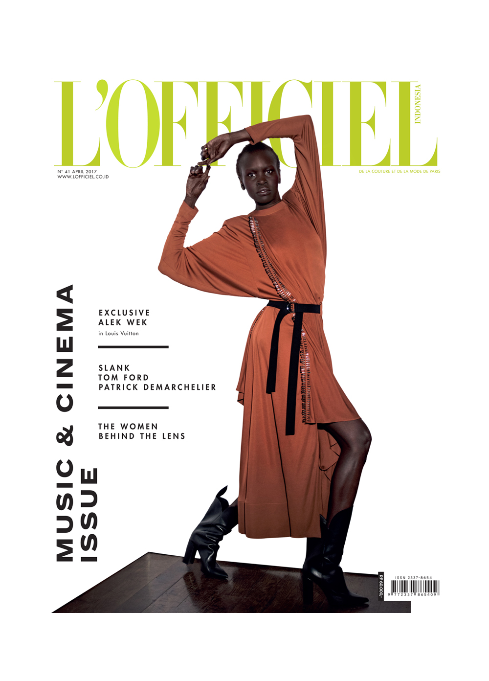 Alek Wek by Onin Lorente for L'Officiel