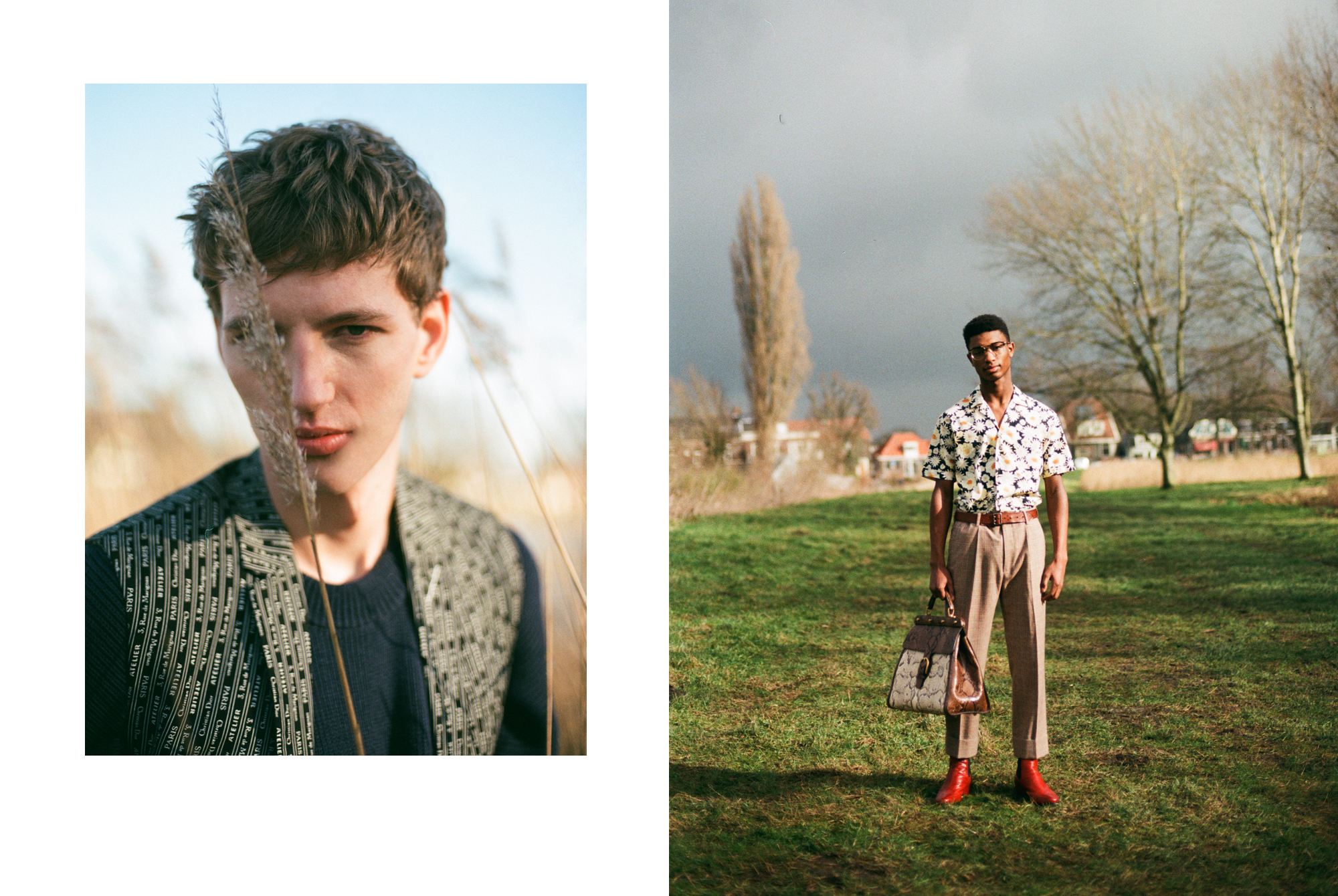 Print This Way with Jemal Etnel and Chris Kapinga by Onin Lorente for Esquire