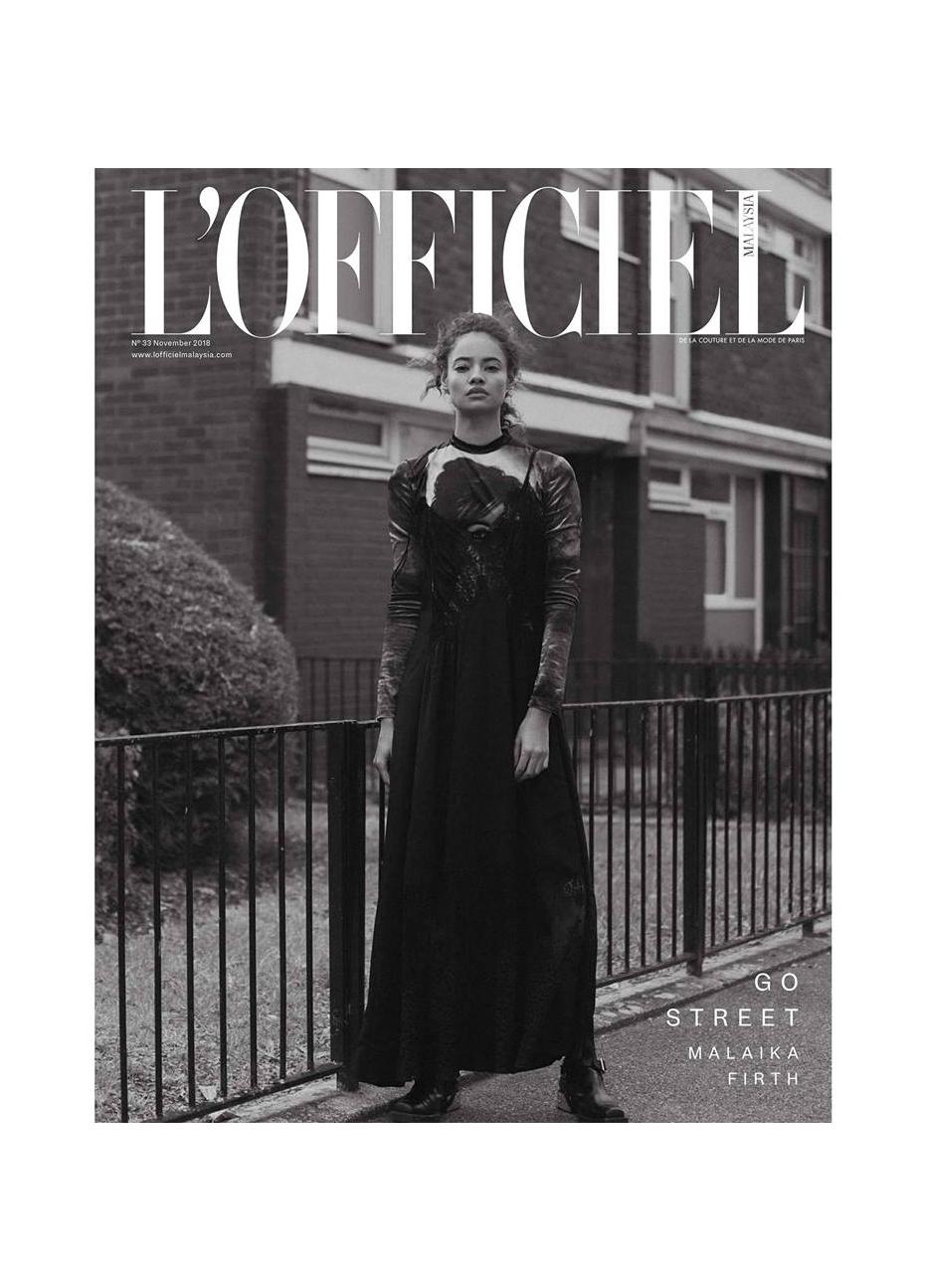 Malaika Firth by Onin Lorente for L'Officiel